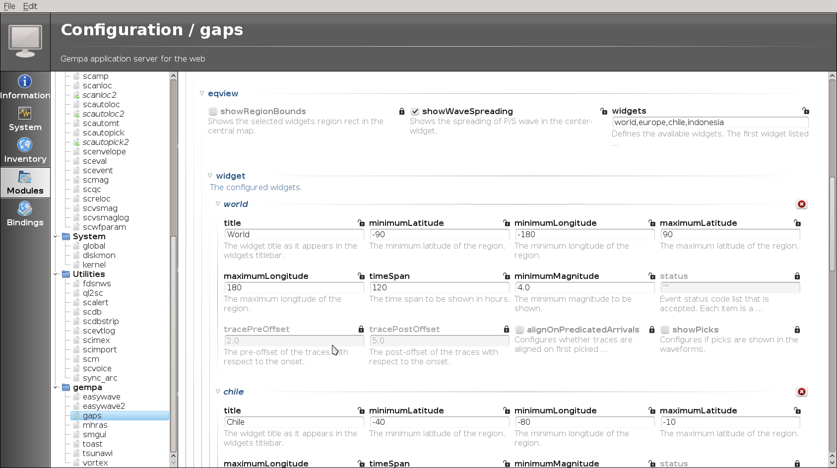 gaps — gaps <> documentation